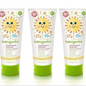 Three Babyganics SPF 50 Mineral-Based Sunscreen